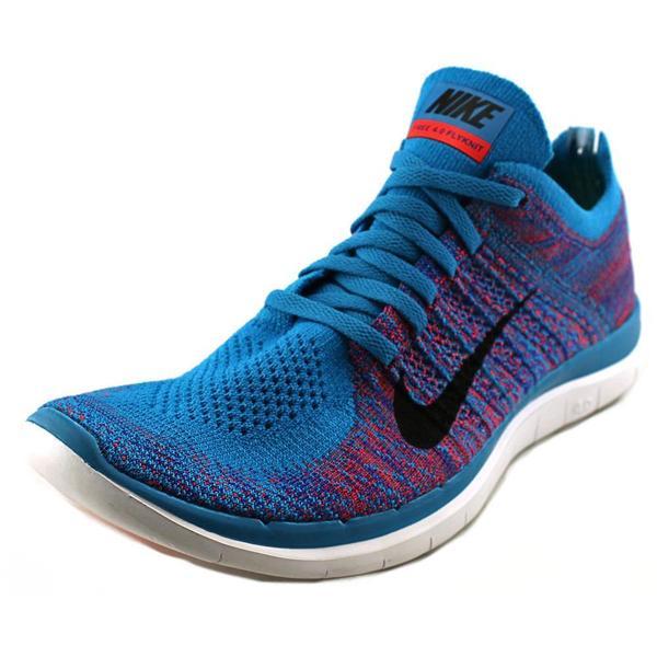 Nike Men's 'Free 4.0 Flyknit' Aqua Blue Synthetic Athletic Shoes