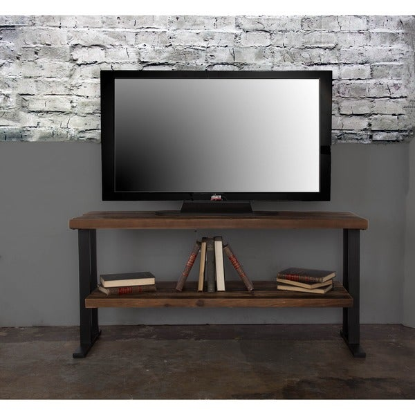 The Duke Wood Two-shelf TV Stand