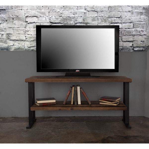 The Duke Wood Two-shelf TV Stand