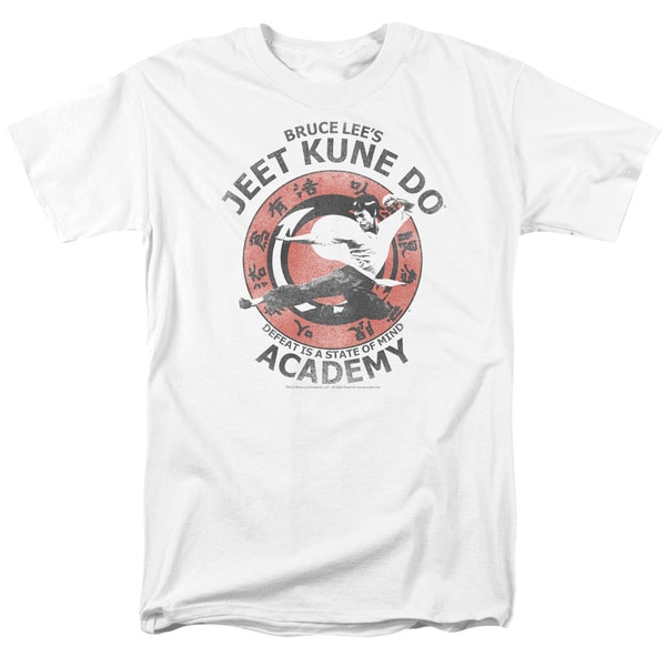 Bruce Lee/Jeet Kune Short Sleeve Adult T-Shirt 18/1 in White