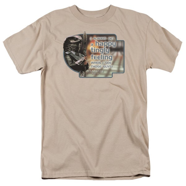 Sg1/Happy Feeling Short Sleeve Adult T-Shirt 18/1 in Sand