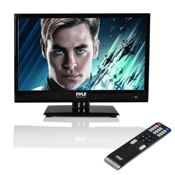 Pyle PTVDLED16 15.6-inch LED TV - HD Flat Screen TV with Built-in CD/DVD Player