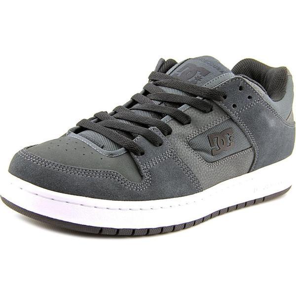 DC Shoes Men's Manteca Grey Leather Athletic Shoes