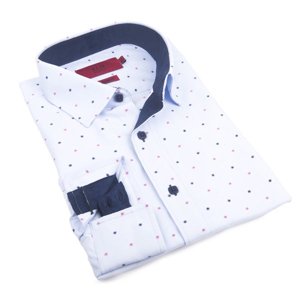 Elie Balleh Milano Italy Mens Multicolored Cotton Slim fit Shirt