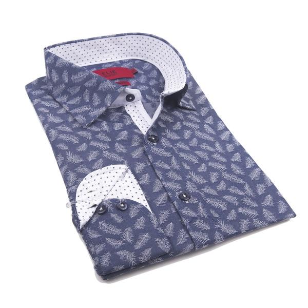 Elie Balleh Men's Milano Italy 2016-style Cotton Slim-fit Shirt