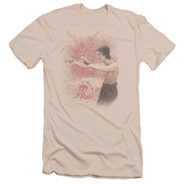 Bruce Lee/Power Of The Dragon Short Sleeve Adult T-Shirt 30/1 in Cream