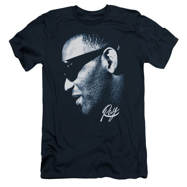 Ray Charles/Blue Ray Short Sleeve Adult T-Shirt 30/1 in Navy 20632278