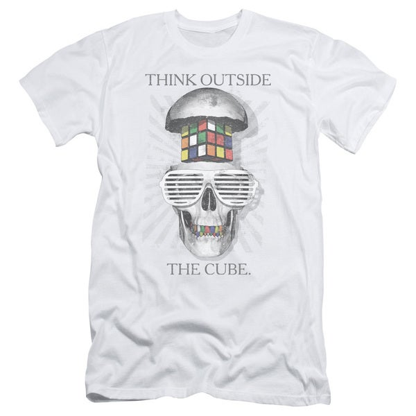Rubik's Cube/Outside The Cube Short Sleeve Adult T-Shirt 30/1 in White