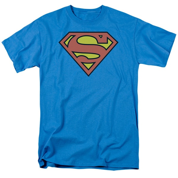 DC/Superman Logo Short Sleeve Adult T-Shirt 18/1 in Turquoise