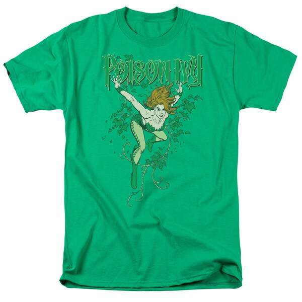 DC/Poison Ivy Short Sleeve Adult T-Shirt 18/1 in Kelly Green