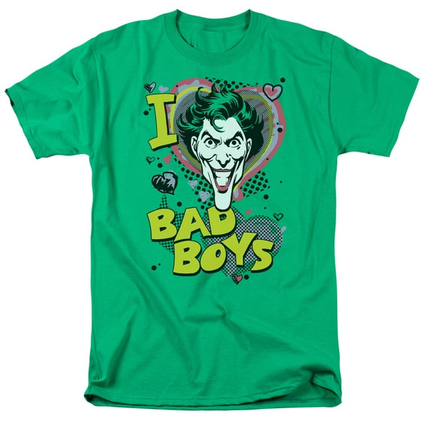 DC/I Heart Bad Boys 2 Short Sleeve Adult T-Shirt 18/1 in Kelly Green