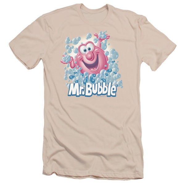 Mr Bubble/Modern Bubble Short Sleeve Adult T-Shirt 30/1 in Cream/Ivory