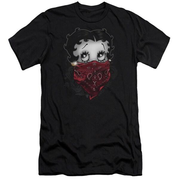 Boop/Bandana & Roses Short Sleeve Adult T-Shirt 30/1 in Black