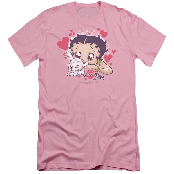 Boop/Puppy Love Short Sleeve Adult T-Shirt 30/1 in Pink