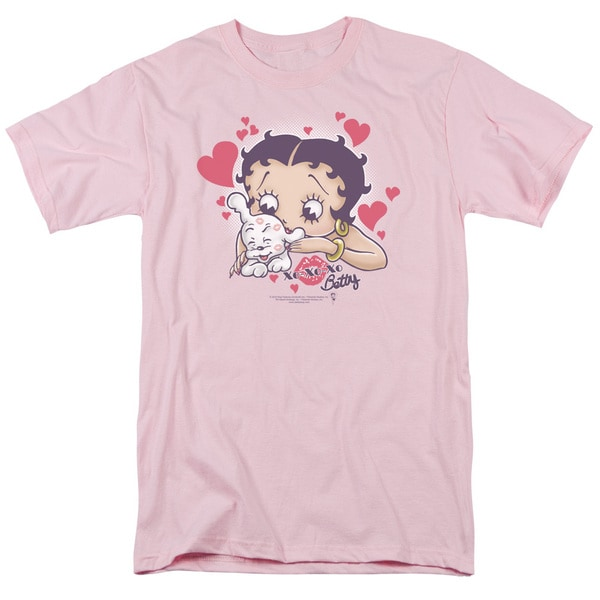 Boop/Puppy Love Short Sleeve Adult T-Shirt 18/1 in Pink