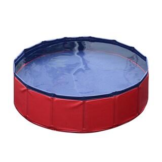 """Pawhut PVC 12"""" x 47"""" Foldable Pet Swimming Pool"""