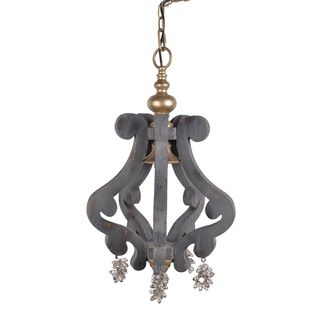 A&B Home Grey and Gold Chandelier