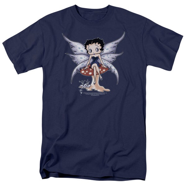 Boop/Mushroom Fairy Short Sleeve Adult T-Shirt 18/1 in Navy