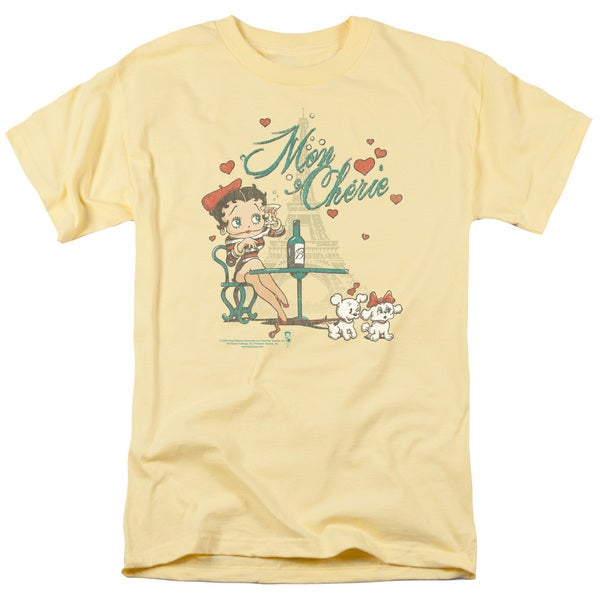 Boop/Mon Cherie Short Sleeve Adult T-Shirt 18/1 in Banana