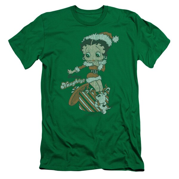 Boop/Define Naughty Short Sleeve Adult T-Shirt 30/1 in Kelly Green