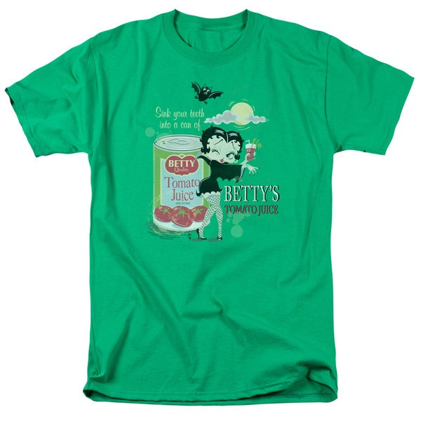 Boop/Vampire Tomato Juice Short Sleeve Adult T-Shirt 18/1 in Kelly Green