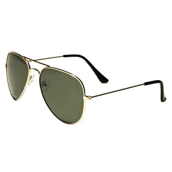 Mechaly Classic Unisex Gold Plastic Aviator Sunglasses