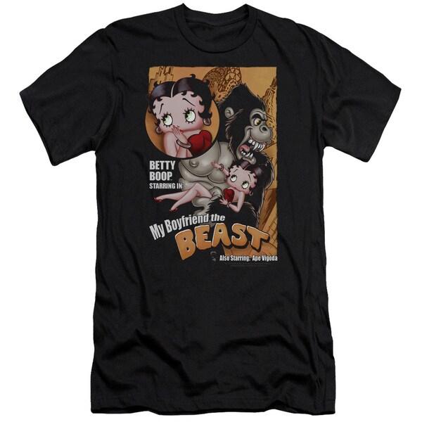 Boop/Boyfriend The Beast Short Sleeve Adult T-Shirt 30/1 in Black