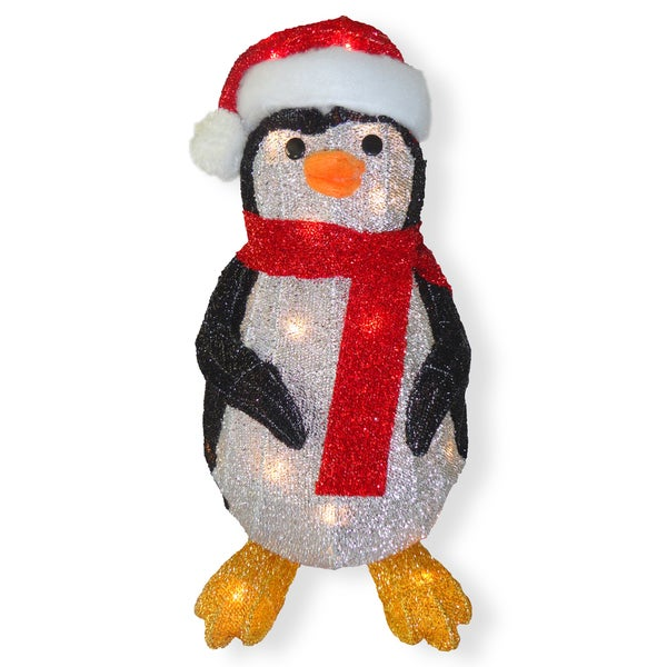 20-inch Penguin with Clear Lights