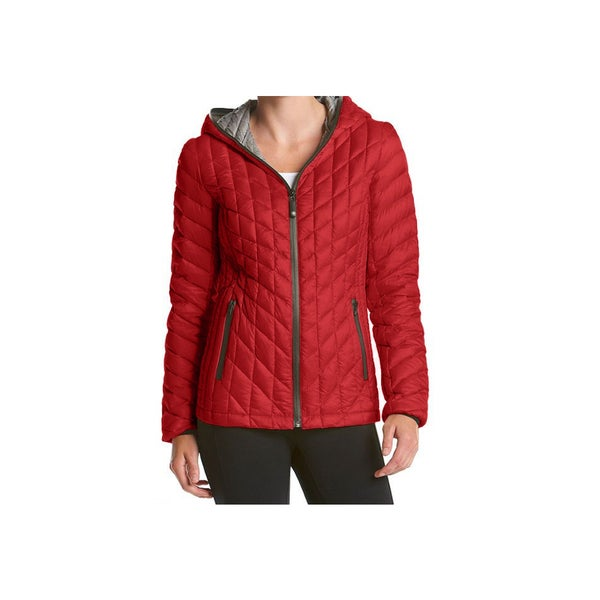 Halifax Red Hooded Down Packable Coat