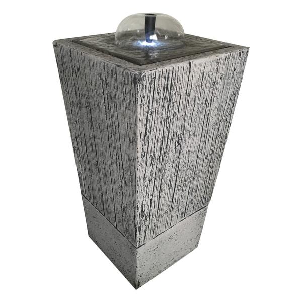 Grey Glass/Stone Indoor Rock Fountain