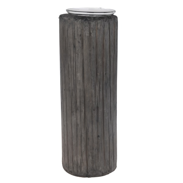 Grey Wood/Glass Jude Candle Holders (Set of 3) 20638396