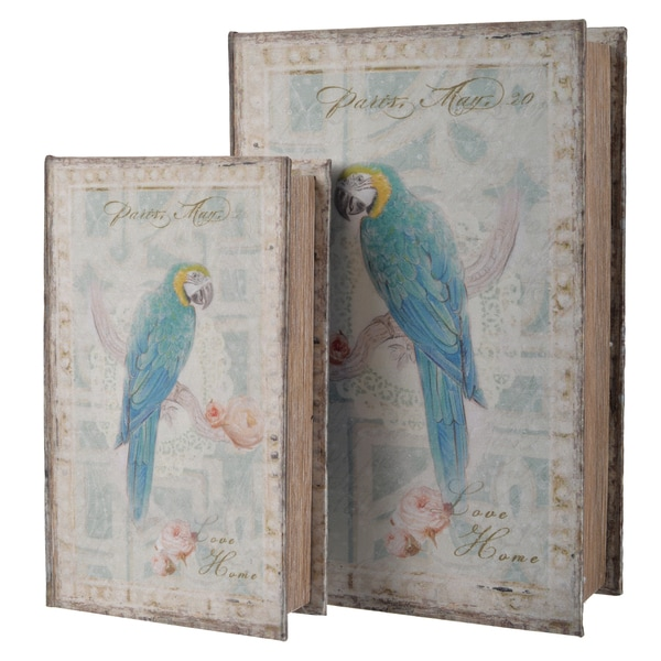 Parrot Bird Book Boxes (Set of 2)