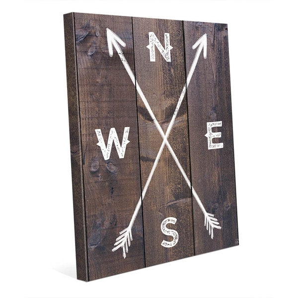 'Direction Arrows' Canvas Wall Art