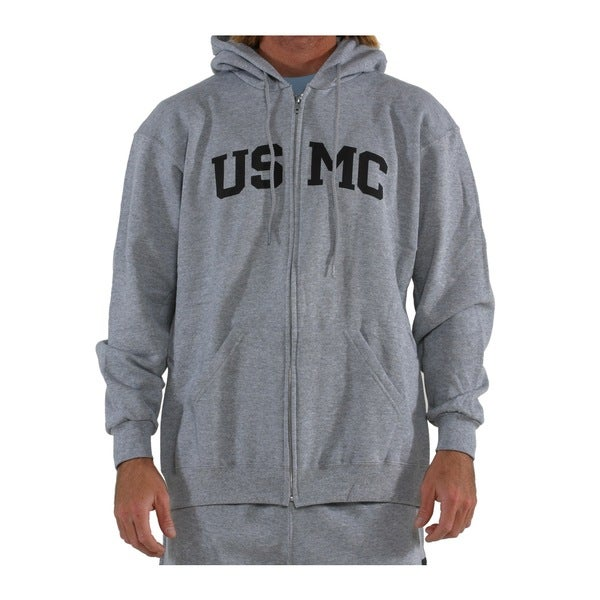 High Performance Grey USMC Zip Hoodie 20639775