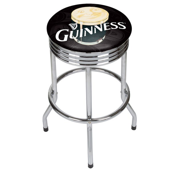 Guinness Chrome Ribbed Bar Stool 20639829