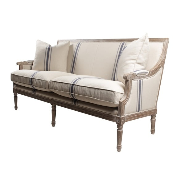 Lafontaine Sofa, Navy Stripe