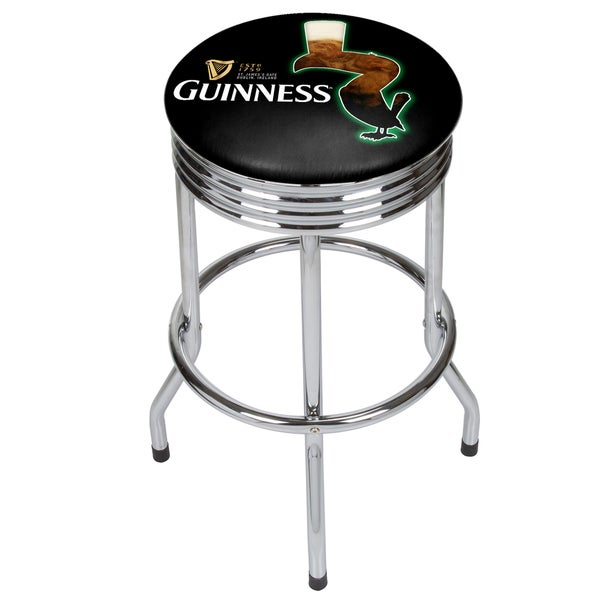 Guinness Chrome Ribbed Bar Stool 20640141