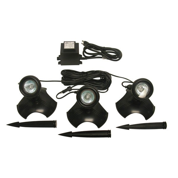 Alpine Black PVC 3-piece 20-watt Light set with Tranformer for Use In or Out of Water