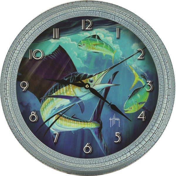 Rivers Edge Guy Harvey 15-inch Sailfish Clock