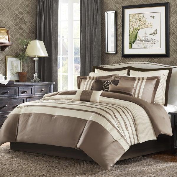 Madison Park Harlem Taupe Jacquard Comforter Set