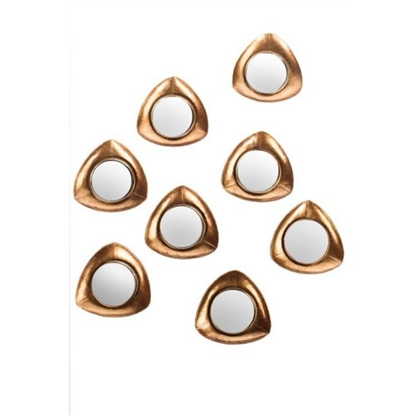 Becky Small Gold Mirrors (Set of 8)