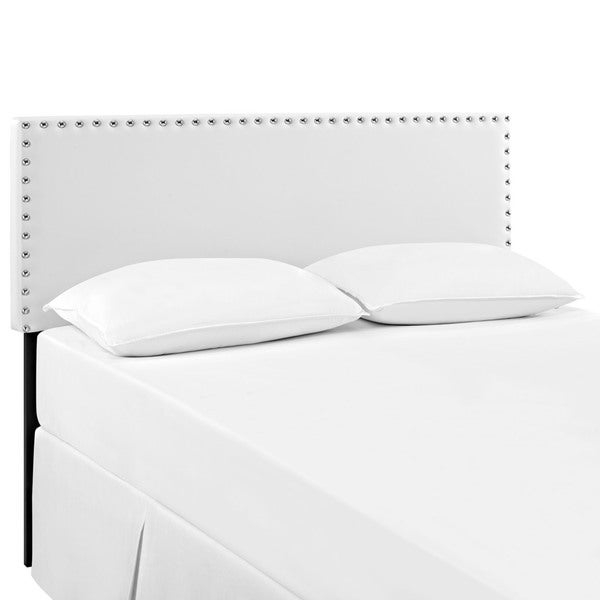 Phoebe White Full Vinyl Headboard