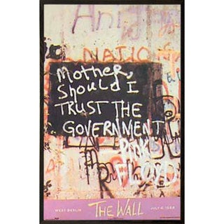 Pink Floyd 'The Wall' Multicolor Walnut-frame 24-inch x 36-inch Wall Art