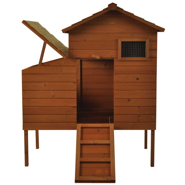 Pawhut Outdoor Raised Leg Hen House Chicken Coop