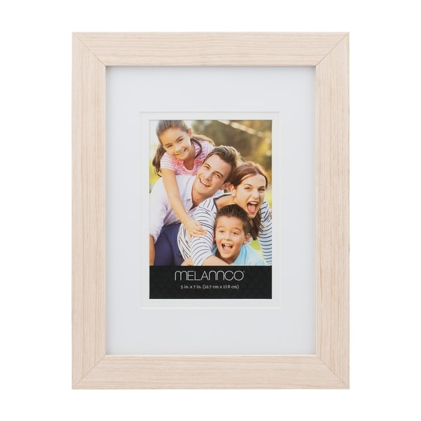 Melannco Natural Wood 5-inch x 7-inch Photo Frame