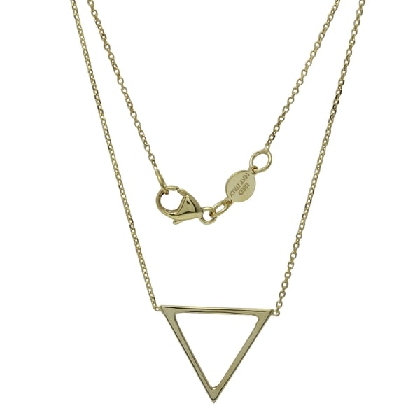 14K Yellow Gold Italian Adjustable Triangle Necklace