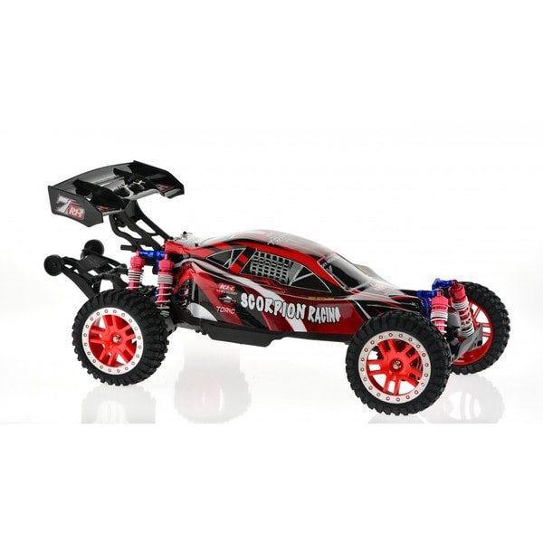 Blue and Red 1/8-scale Remote Control Scorpion Racing Buggy