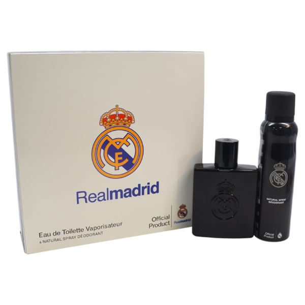 Real Madrid Black Men's 2-piece Gift Set