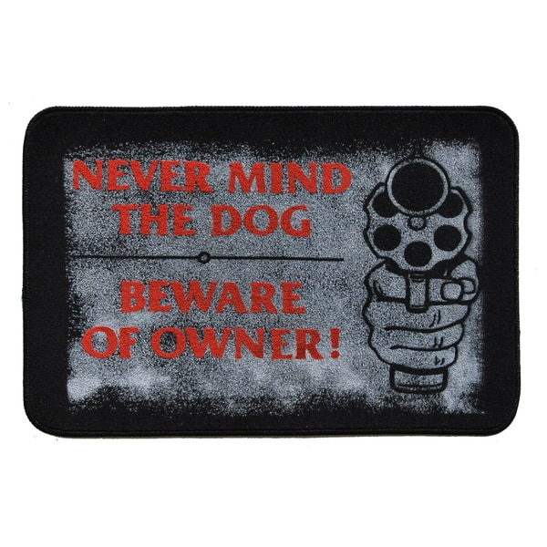 Beware of Owner Indoor Mat