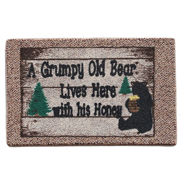 Grumpy Old Bear Indoor Mat
